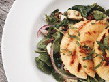 Grilled Pineapple spinach salad