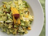 Napa cabbage, Mango and Bacon Salad