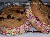 A Celebration on love : Homemade Ice-Cream Cookie Sandwiches Recipe