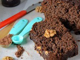 Banana Chocolate Cake | Chocolate Banana Cake with Walnuts | Ragi Banana Chocolate Cake