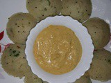 Coriander Rava Idly Recipe with Coconut Pachadi, How to make Cilantro Rava Idli Recipe