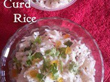 Curd Rice Recipe, How to make Yogurt Ri