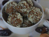 Dates, Almond and Coconut Rolls, No Bake Coconut and Dates Balls | 3 Ingredient Date Bites