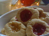 Shortbread Jam Thumbprint Cookies, How to make Jam Thumbprint Cookies | Eggless Thumbprint Cookies