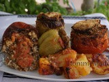 Γεμιστα με κιμα / Stuffed Tomatoes with Ground Beef
