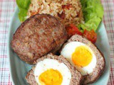 Bacon Onion Fried rice & Scotch eggs