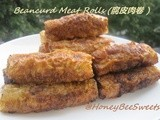 Beancurd Meat Rolls (腐皮肉卷 ) and Banana Cake with Oreo chunks