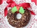 Chocolate Granola Wreath with Holly Buttercookies