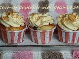 Coconut Cupcakes with Coconut Swiss Meringue Buttercream