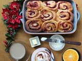 Cranberry Orange Wholewheat breakfast rolls