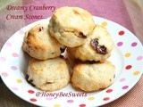 Dreamy Cranberry Cream Scones