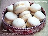 Earl Gray Macarons with Passion Fruit Buttercream