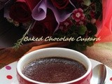 Easy Valentine's Day Desert : Baked Chocolate Custard