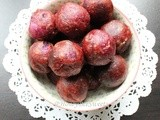 Fried Purple Sweet Potato Balls (炸紫薯QQ球) and Happy 2013