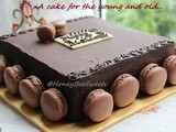 Hazelnut Opera Cake with Chocolate Hazelnut Macarons