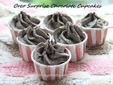 Oreo Surprise Chocolate Cupcakes