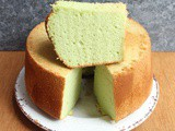 Pandan Chiffon Cake (with coconut oil)