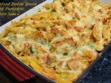 Pumpkin & Shrimp Pasta Gratin with Pumpkin White Sauce