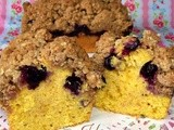 Pumpkin Wholewheat Blueberry cake with Oatmeal Streusel