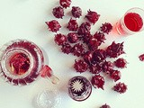 Hibiscus flower in syrup and tea