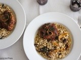 Sous vide pork osso buco with wild mushroom pearl barley risotto- cook off recipe