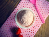 Strawberry and clotted cream ice cream