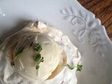 Thyme and orange blossom ice cream