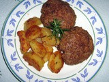 Beef Burgers and Potatoes