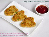 Vegetable Cutlets With Fennel Seeds