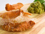 Salmon Chips with Asian Guacamole Recipe