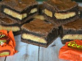 Brownies stuffed with reese's peanut butter cups