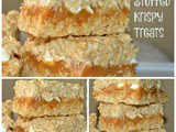 Caramel Stuffed Krispy Treats