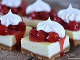 Cherries and Cream Cheesecake Bars