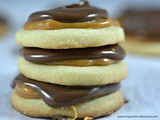 Chocolate Caramel Shortbread Cookies