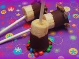 Chocolate dipped banana pops
