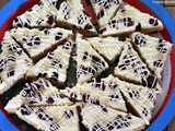 Christmas Cranberry Bars with White Chocolate Cream Cheese Frosting