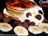 Chunky monkey chocolate chip banana pancakes