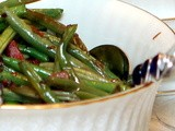 Green beans with bacon & shallots