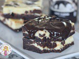 Hot Fudge Cheesecake Brownies