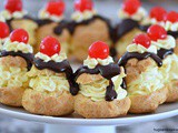 Hot Fudge Cream Puff Ring