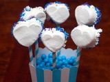 It's a boy! marshmallow pops