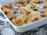 Lemon Raspberry Bread Pudding