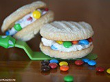 M and m Buttercream Sandwich Cookies