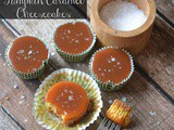 Mini Pumpkin Cheesecakes with Salted Caramel