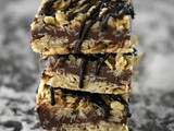 Oatmeal Peanut Butter Fudge Bars