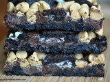 Oreo Peanut Butter Fudge Bars
