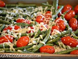 Parmesan roasted green beans & plum tomatoes