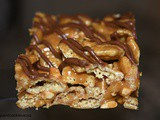 Peanut Butter Caramel No Bake Bars