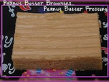 Perfect peanut butter brownies & peanut butter frosting
