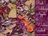 Red cabbage, apple & walnut salad
